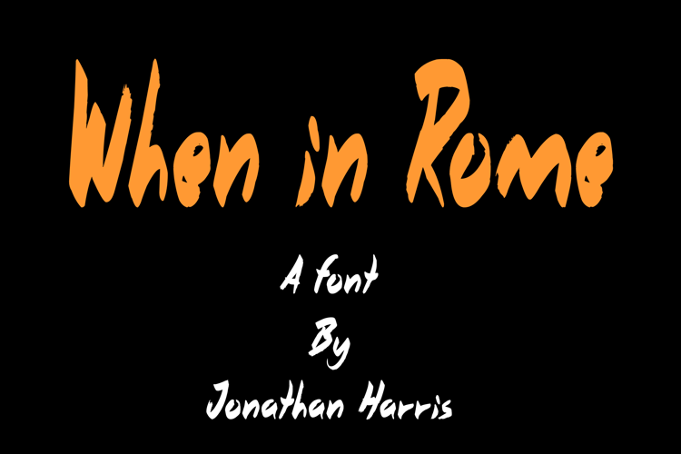 When in Rome Font