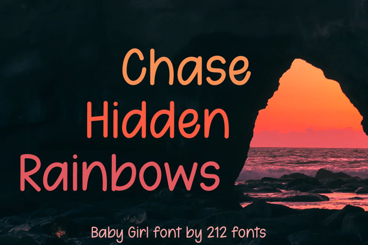 212 Baby Girl Light Font