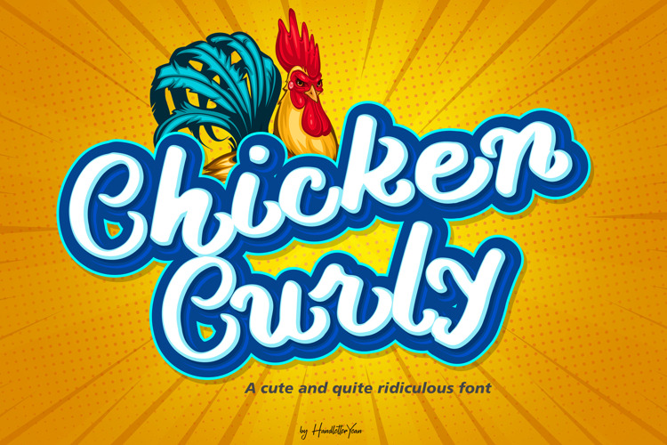 Chicken Curly Font