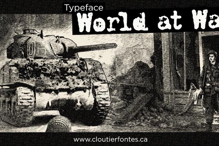 CF World at War Font