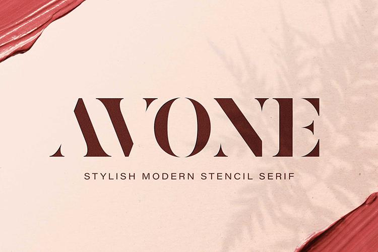 AVONE Stencil Font