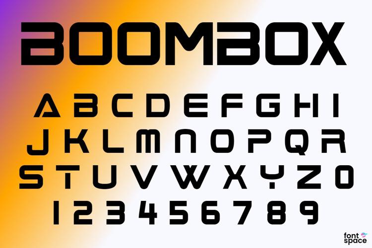 Boom Box Font