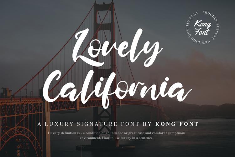 Lovely California Font