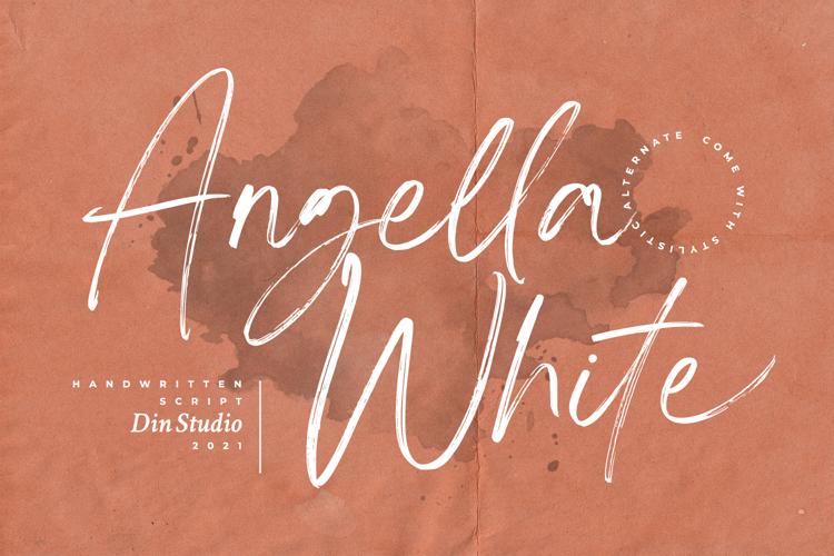 Angella White font