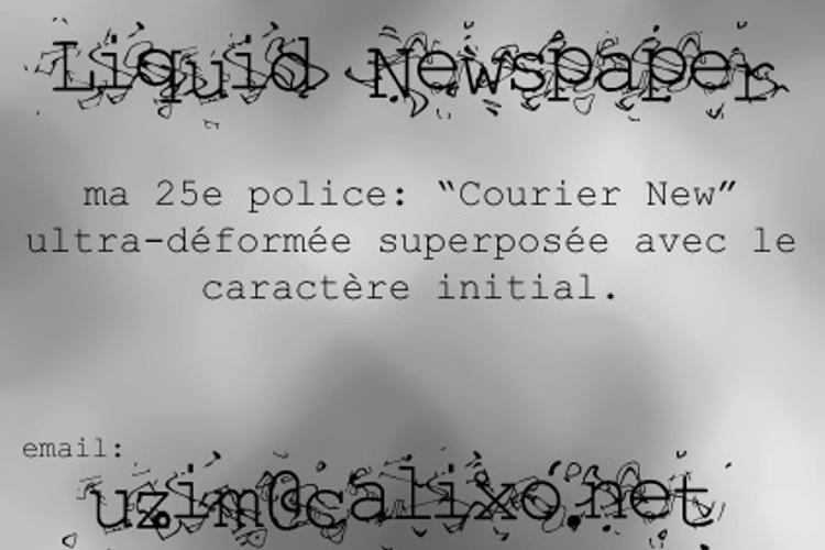 Liquid Newspaper Font