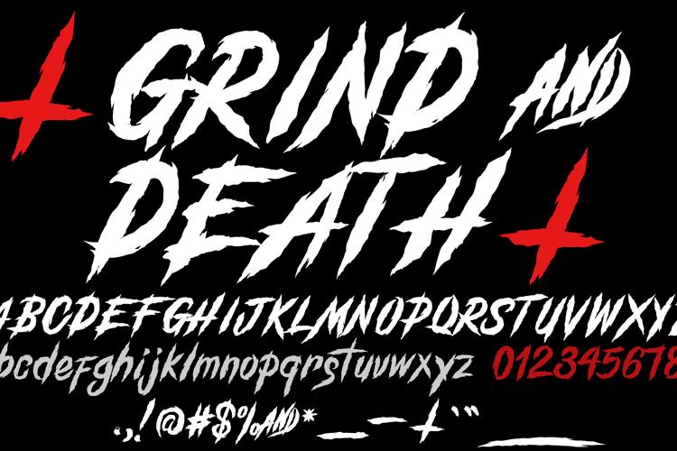 GrindAndDeath_Demo Font