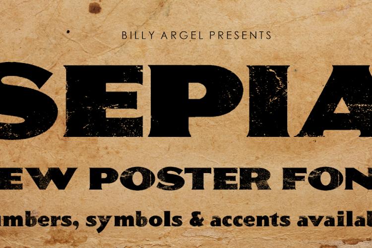 SEPIA Font