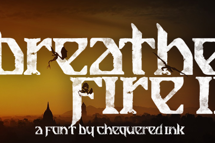 Breathe Fire II Font