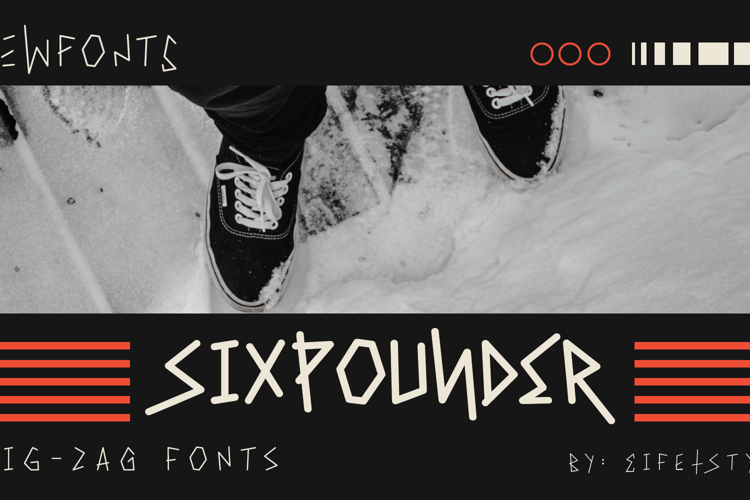 Sixpounder Font