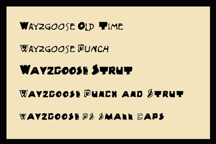 Wayzgoose Block Font