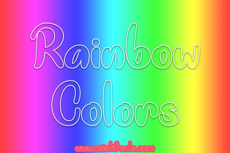 Rainbow Colors Font