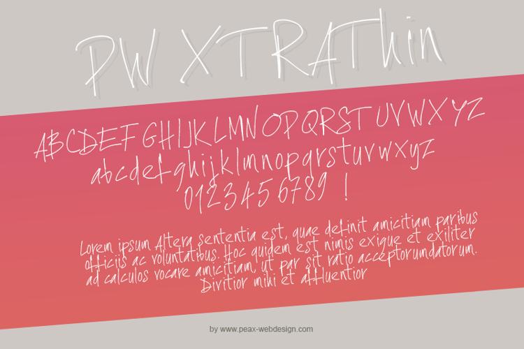 PWXtraThin Font