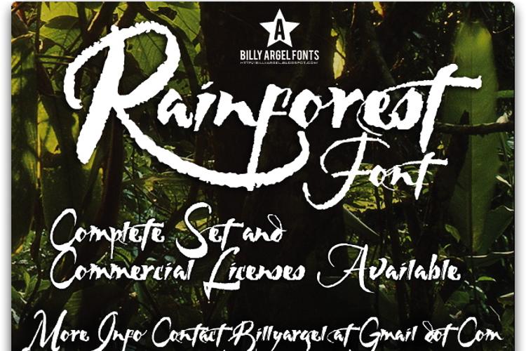 RAINFOREST Font
