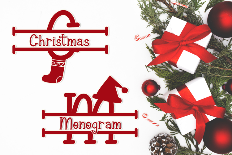 Christmas Surprise Monogram Font