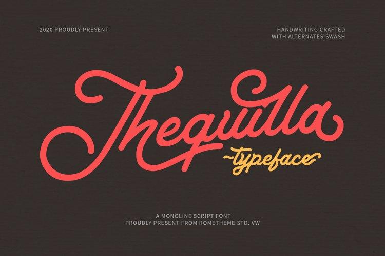 Thequilla - Monoline Script Font