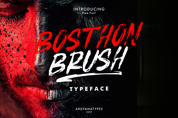 BOSTHON BRUSH Font