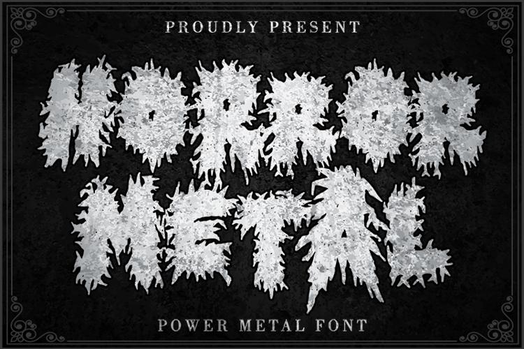 Horror Metal Font