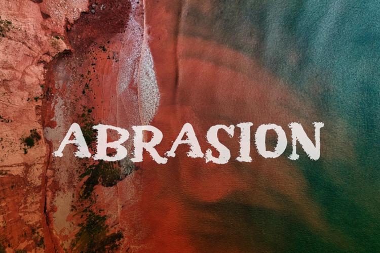 a Abrasion Font