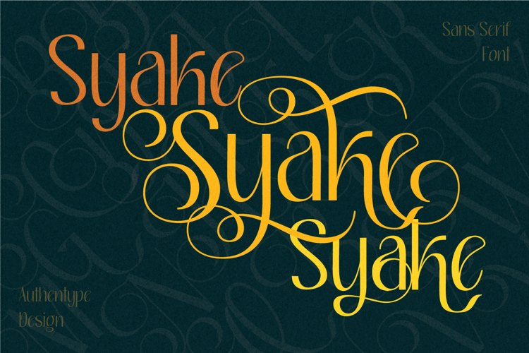 Syake Font