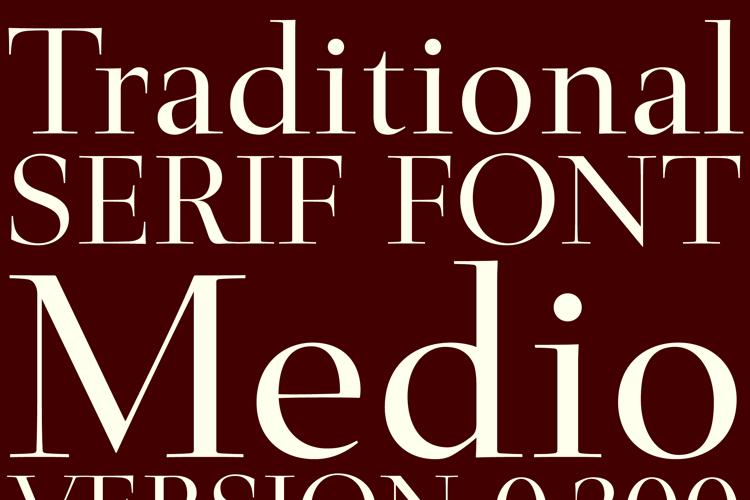 Medio Font