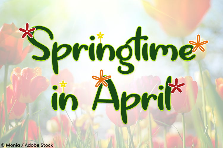 Springtime in April Font