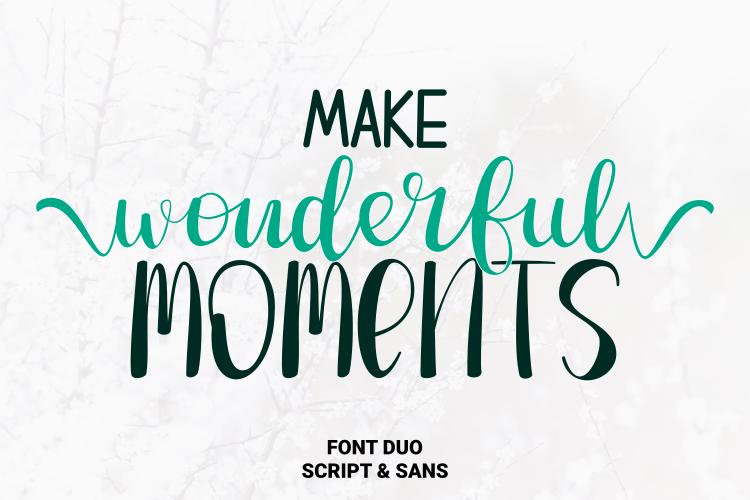 Make Wonderful Moments Script Font