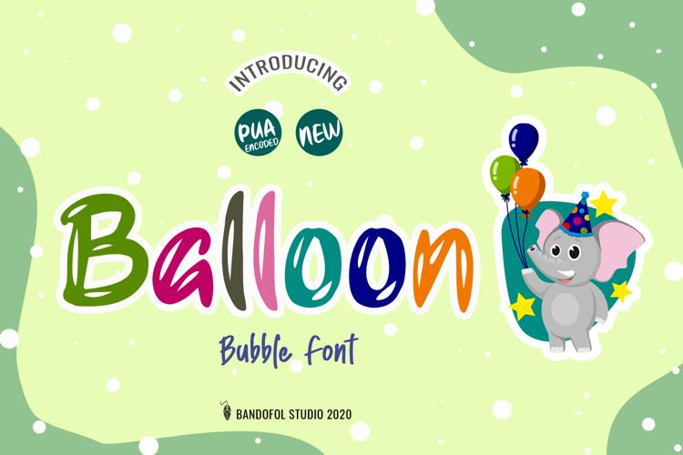 Balloon Font