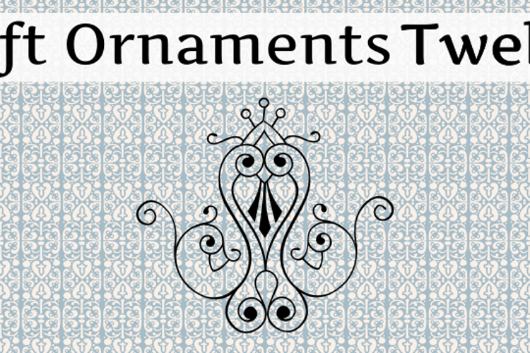 Soft Ornaments Twelve Font