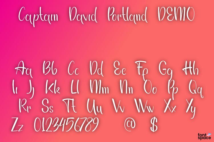 Captain David Portland Font