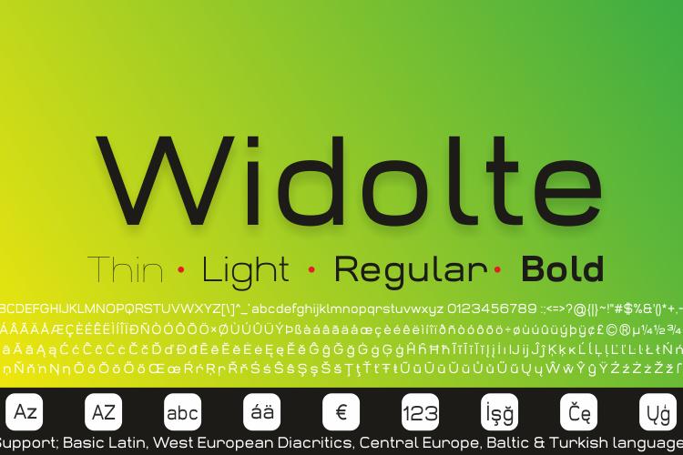 Widolte Bold Demo Font
