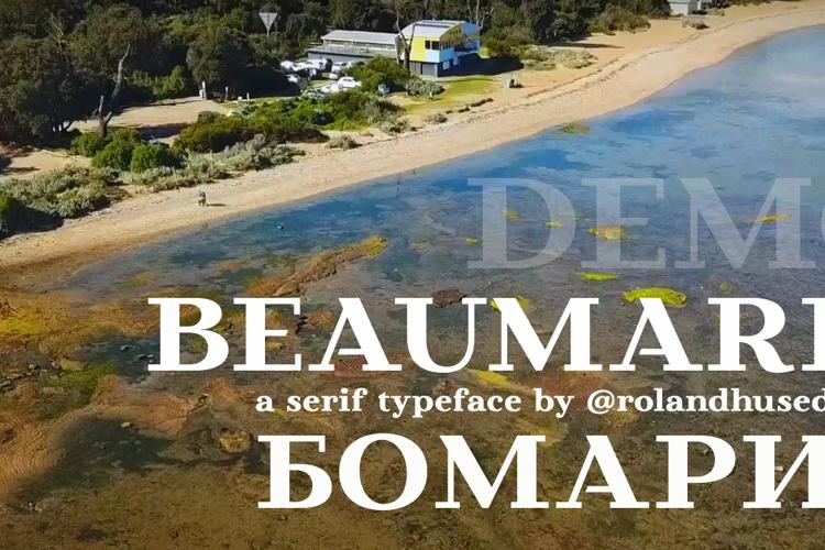 Beaumaris Demo Font