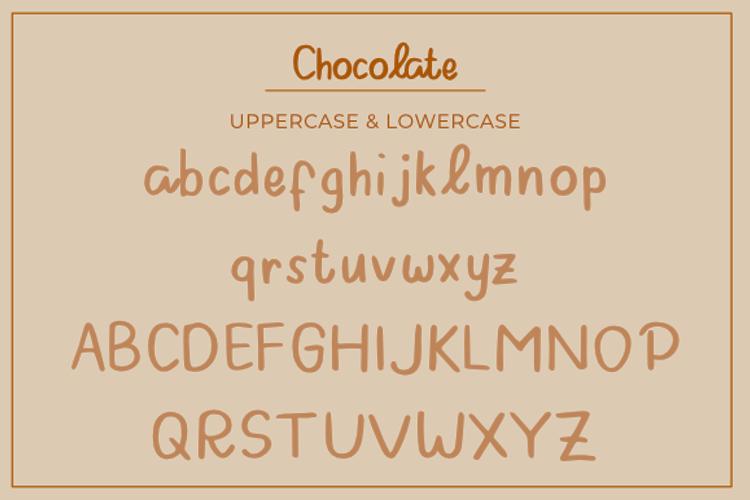 Chocolate Display Font