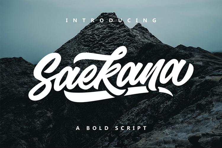 Saekana Script Font