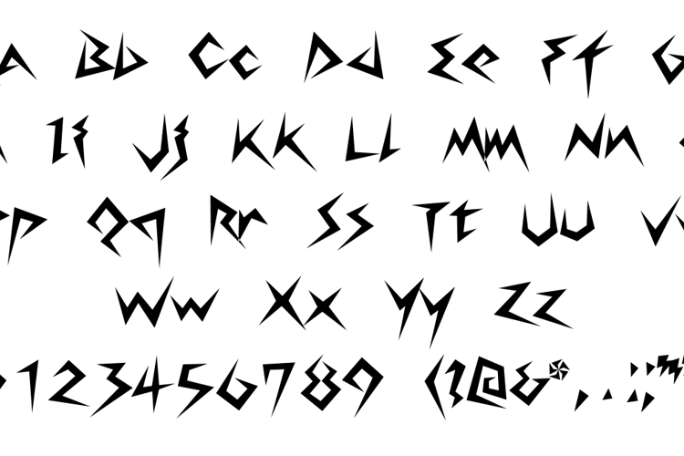 Lightning Volt Font