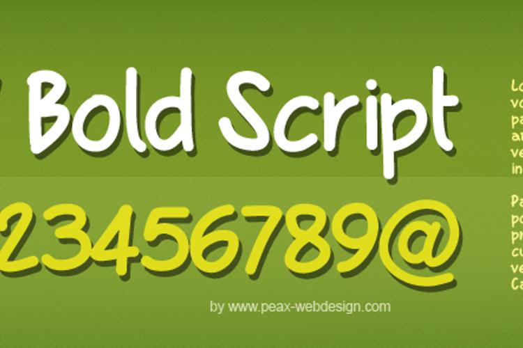 PWBoldScript Font