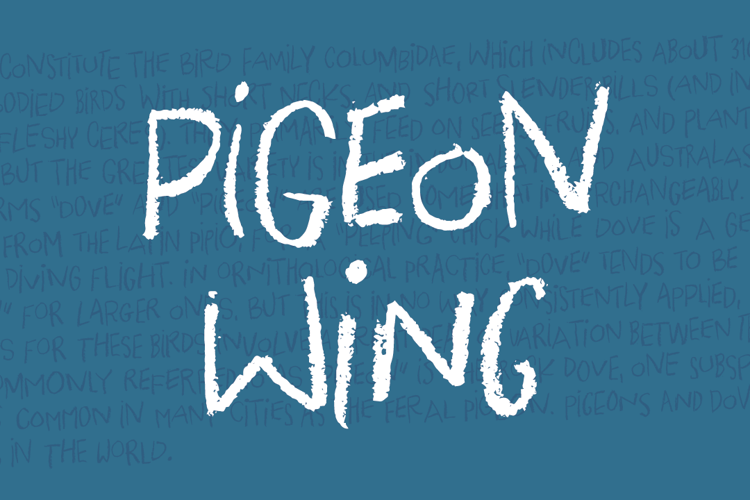 Pigeon Wing DEMO Font