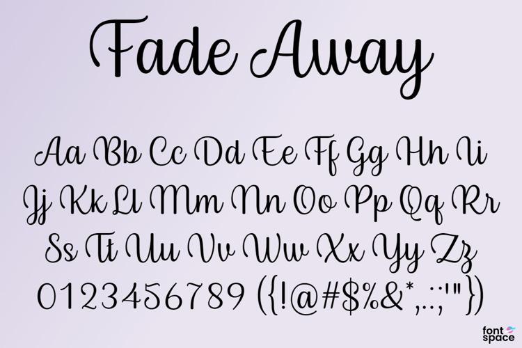 BB Fade Away Font