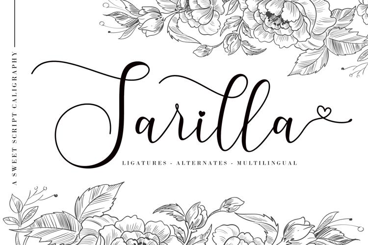 Sarilla Script Font