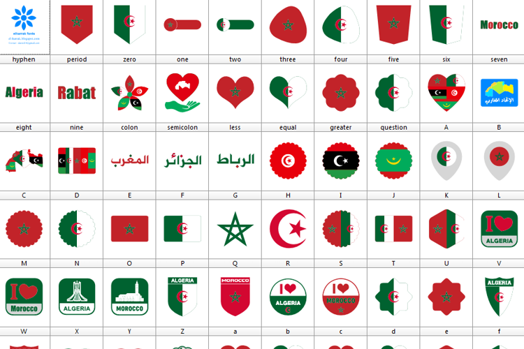 Font Morocco Algeria