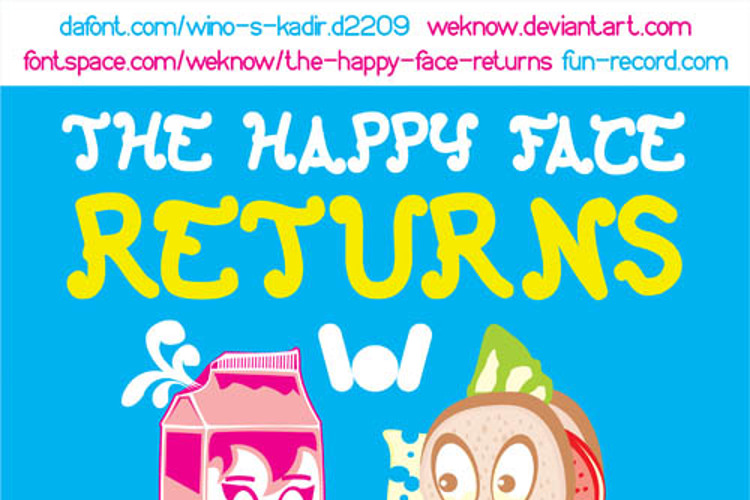 The Happy Face Returns Font