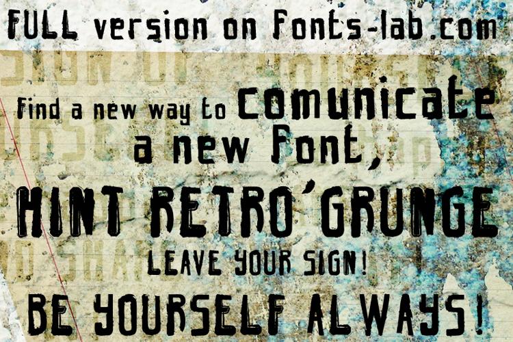 hint retrò grunge Font