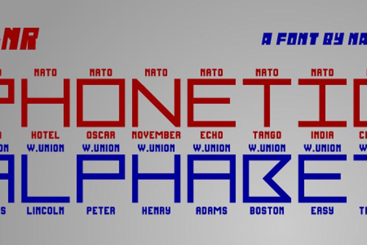 LNR Phonetic Alphabet Font
