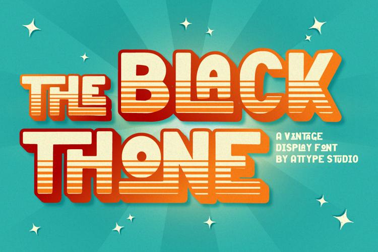 Black Thone Font