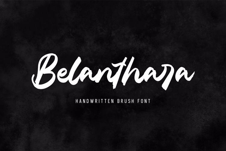 Belanthara - Brush Font
