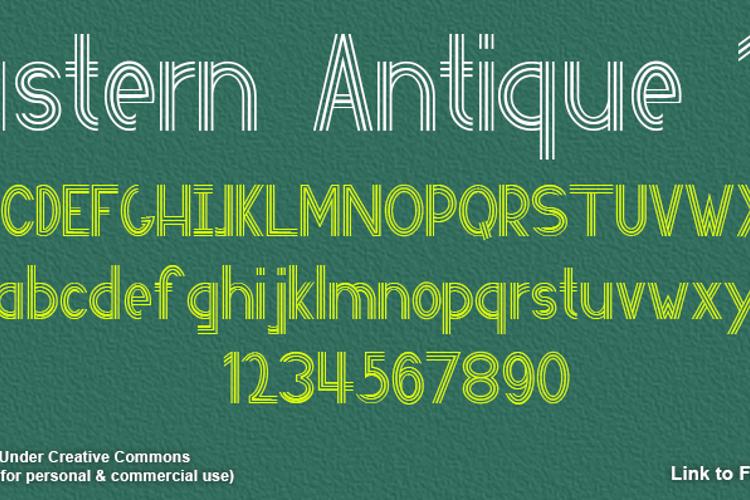 Eastern Antique 101 Font