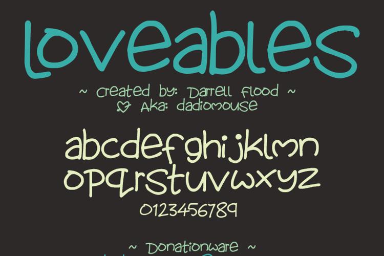 Lovables Font
