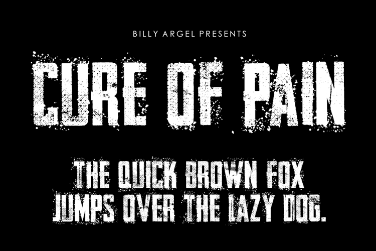 CURE OF PAIN Font