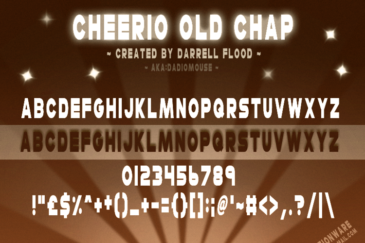 Cheerio Old Chap Font