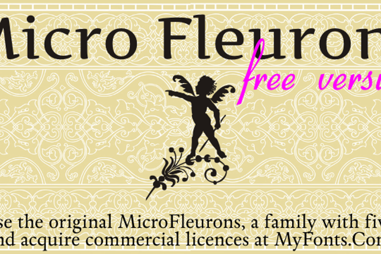 Micro Fleurons Font