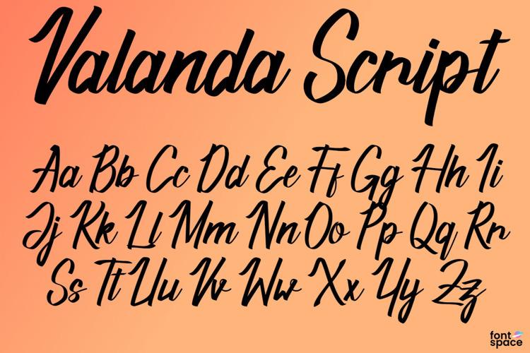 Valanda Script Font